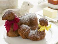 Osterkuchen in Lamm- und Hennenform Rezept