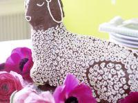 Osterlamm mit Schokolade und Zuckerguß Rezept
