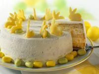 Ostertorte mit Mango und Zuckereiern Rezept