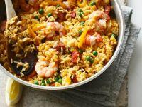Paella mit Garnelen und Chorizo Rezept