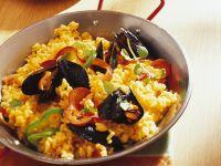 Paella mit Muscheln Rezept