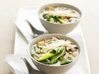 Pak Choy-Suppe mit Pilzen Rezept