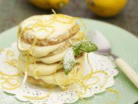 Pancake-Turm mit Zitronencreme Rezept