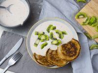 Pancakes mit Joghurt und Kiwi Rezept