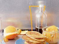 Pancakes mit marinierten Orangen Rezept