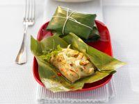Pangasius im Bananenblatt gedämpft Rezept