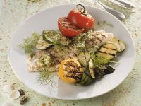 Pangasius vom Grill mit Gemüse und Dillpesto Rezept