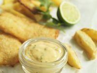 Panierter Fisch mit Limetten-Koriander-Aioli Rezept