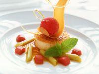 Panna Cotta mit Fruchteis Rezept