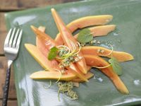 Papaya-Carpaccio Rezept