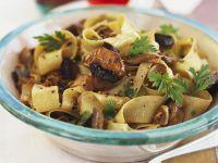 Pappardelle mit gebratenen Pilzen Rezept