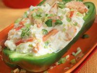 Paprika gefüllt mit Krebsfleisch Rezept