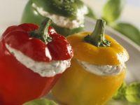 Paprika mit Feta-Füllung Rezept