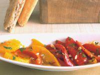 Paprika-Orangen-Antipasti mit Safran Rezept