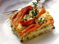 Paprika-Rotbarsch-Gratin Rezept