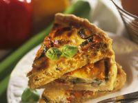 Paprika-Zucchini-Quiche Rezept