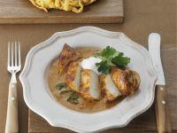 Paprikahühnchen mit Spätzle auf ungarische Art (Galuska) Rezept