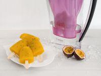 Passionsfrucht-Mango-Zitronenmelissen-Eis Rezept