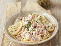 Pasta Carbonara mit Kapern Rezept