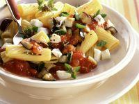 Pasta mit Aubergine und Mozzarella Rezept