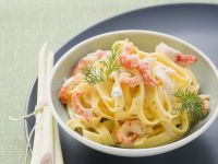Pasta mit Flusskrebs-Zitronen-Soße