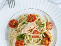 Pasta mit Hähnchen und Tomaten Rezept