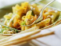 Pasta mit Kichererbsen und Möhren Rezept