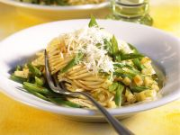 Pasta mit Kohlrabi und grünen Bohnen Rezept