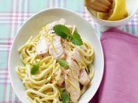 Pasta mit Lachs-Melisse-Sauce Rezept