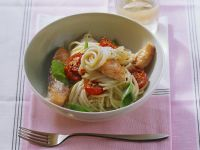 Pasta mit Lachsfilet und Cherrytomaten Rezept