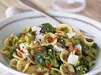 Pasta mit luftgetrocknetem Schinken (Pancetta), Brokkoli und Parmesan Rezept