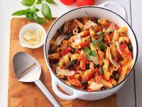 Pasta mit Paprika und Speck Rezept