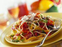 Pasta mit Parmaschinken-Paprika-Sauce Rezept