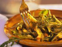 Pasta mit Pesto und Käse Rezept