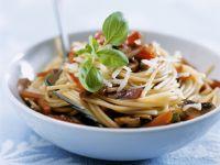Pasta mit Pilzen und Gemüse Rezept