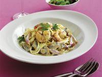 Pasta mit Pilzen und Shrimps Rezept