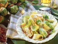 Pasta mit Rosenkohl und Speck Rezept