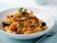 Pasta mit Scampi und Oliven Rezept