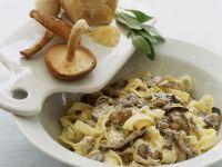 Pasta mit Shiitake, Salbei und Parmesankäse Rezept