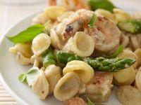 Pasta mit Shrimps und Spargel Rezept