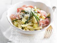 Pasta mit Speck, Bohnen und Kartoffeln Rezept