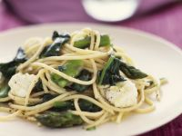 Pasta mit Spinat und Ziegenkäse Rezept