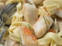 Pasta mit Tilapiafilet und Zitronensoße Rezept