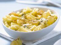 Pasta mit Trauben und Blauschimmelkäse Rezept