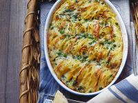Pastagratin mit Erbsen, Schinken und Sahne Rezept
