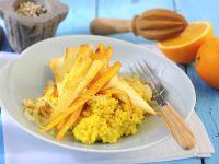 Pastinaken-Orangen-Gemüse mit Hirse Rezept