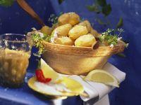 Pellkartoffeln auf kanarische Art dazu Peperonidip Rezept