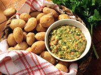 Pellkartoffeln mit Tomaten-Kräuter-Sauce Rezept