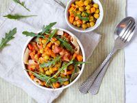 Penne mit Tomatensauce und Kichererbsen Rezept