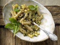 Penne mit Zucchini und Kapern Rezept